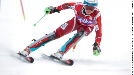 WENGEN, SWITZERLAND - JANUARY 17: (FRANCE OUT) Henrik Kristoffersen of Norway competes during the Audi FIS Alpine Ski World Cup Men's Slalom on January 17, 2016 in Wengen, Switzerland. (Photo by Alexis Boichard/Agence Zoom/Getty Images)