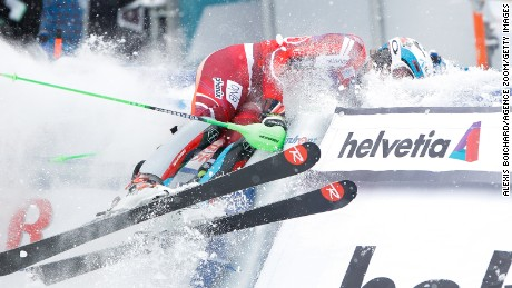 WENGEN, SWITZERLAND - JANUARY 17: (FRANCE OUT) Henrik Kristoffersen of Norway celebrates during the Audi FIS Alpine Ski World Cup Men's Slalom on January 17, 2016 in Wengen, Switzerland. (Photo by Alexis Boichard/Agence Zoom/Getty Images)