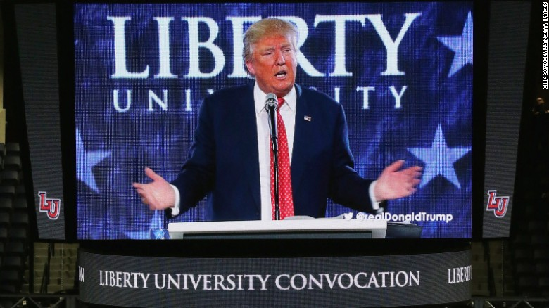 Donald Trump courts evangelicals, misquotes Bible