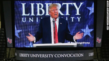 Donald Trump courts evangelicals, misquotes Bible