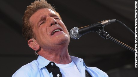 NEW ORLEANS, LA - MAY 05:  Glenn Frey of the Eagles performs during the 2012 New Orleans Jazz & Heritage Festival - Day 6 at the Fair Grounds Race Course on May 5, 2012 in New Orleans, Louisiana.  (Photo by Rick Diamond/Getty Images)