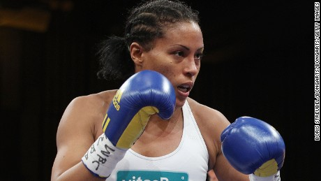 ROSTOCK, GERMANY - OCTOBER 30:  Cecilia Braekhus of Norway in action during her WBC WBA WBO Female Welterweight title fight against Mikaela Lauren of Schweden at Stadthalle Rostock on October 30, 2010 in Rostock, Germany.  (Photo by Boris Streubel/Bongarts/Getty Images)