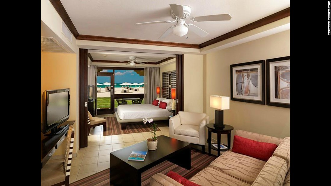 The average rate for Bucuti & Tara Beach Resort in Aruba is $468 per night on TripAdvisor.