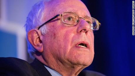 "Democratic presidential hopeful Sen. Bernie Sanders (I-VT) speaks at the ""First in the South"" Dinner on January 16, 2016 in Charleston, South Carolina."