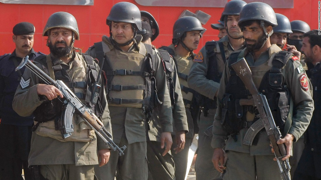 Troops arrive at Bacha Khan University after gunmen stormed the campus.