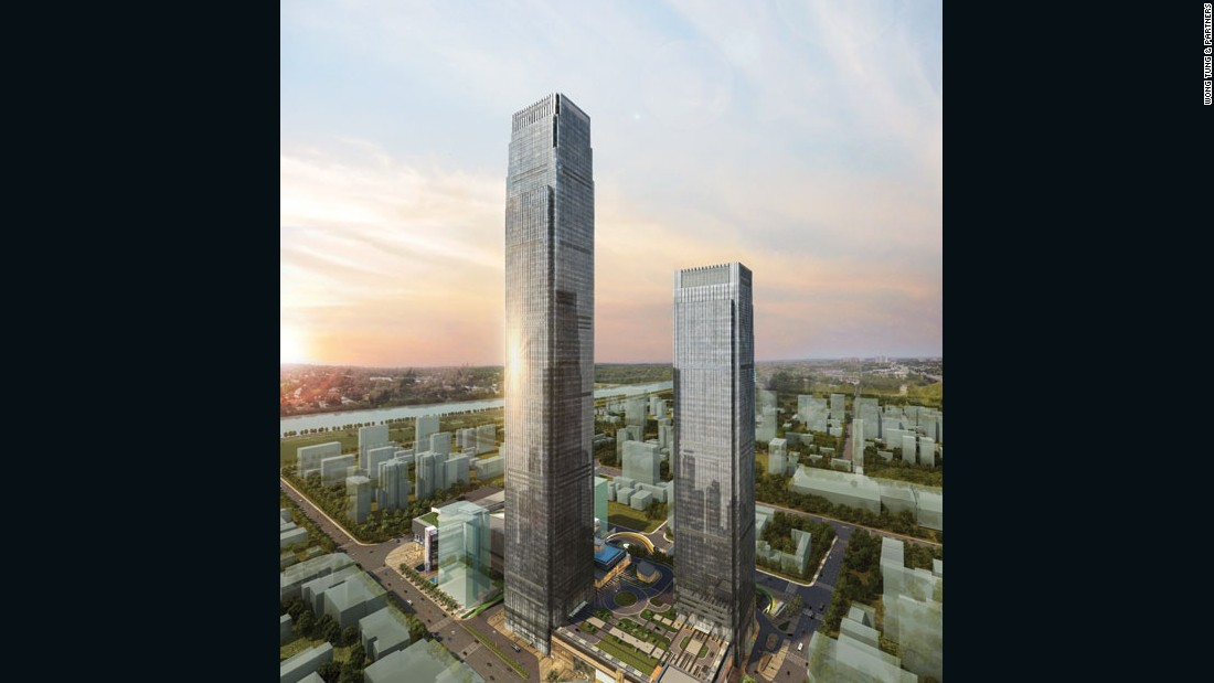 "A hotel and office hybrid, this straightforward supertall building by <a href=""http://www.wongtung.com/e_intro.html"" target=""_blank"">Wong Tung & Partners</a> in Hunan Province's booming capital city is expected to be completed by 2017. <br /><br /><strong>Height: </strong>452 metres (1,482 ft) <br /><strong>Architect:</strong> <a href=""http://www.wongtung.com/e_intro.html"" target=""_blank"">Wong Tung & Partners</a>"