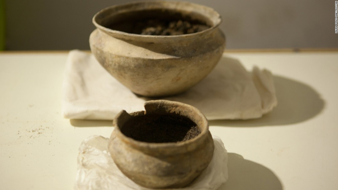This pottery was found nearly intact at the site.