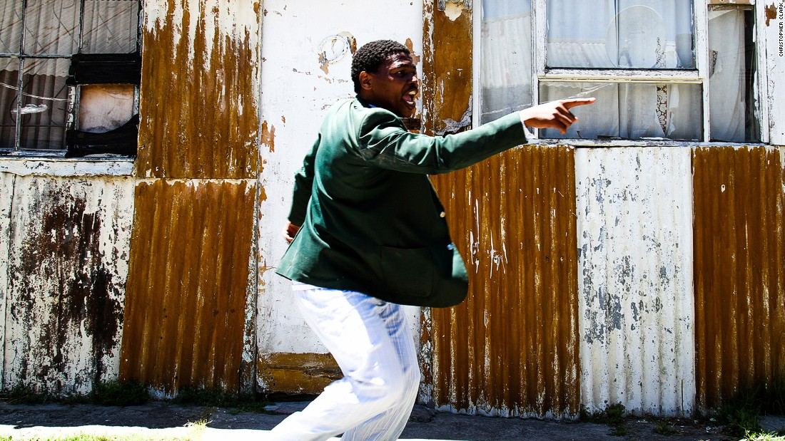 Using a similar concept to Jazz in the Native Yards, in neighboring Nyanga theater producer Mhlanguli George has taken his raw, visceral and interactive theater installations and their audiences away from mainstream theater spaces and into his own township backyard.