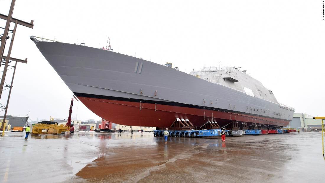 The littoral combat ship USS Sioux City (LCS 11) is scheduled to be launched at the Lockheed-Martin facility in Marinette, Wisconsin, in January 2016.