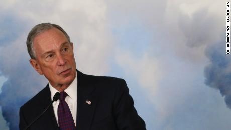 Former New York City Mayor Michael Bloomberg speaks at the Sierra Club April 8, 2015 in Washington, DC.