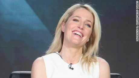 """""""The X-Files"""" star Gillian Anderson speaks out on Hollywood's gender gap in pay."""