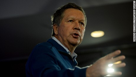 Republican presidential candidate John Kasich speaks at the NHGOP First In The Nation Town Hall January 23, 2016 in Nashua, New Hampshire.