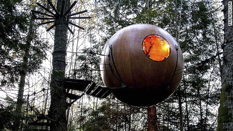 There are tree houses for kids, then there are tree houses for adults.