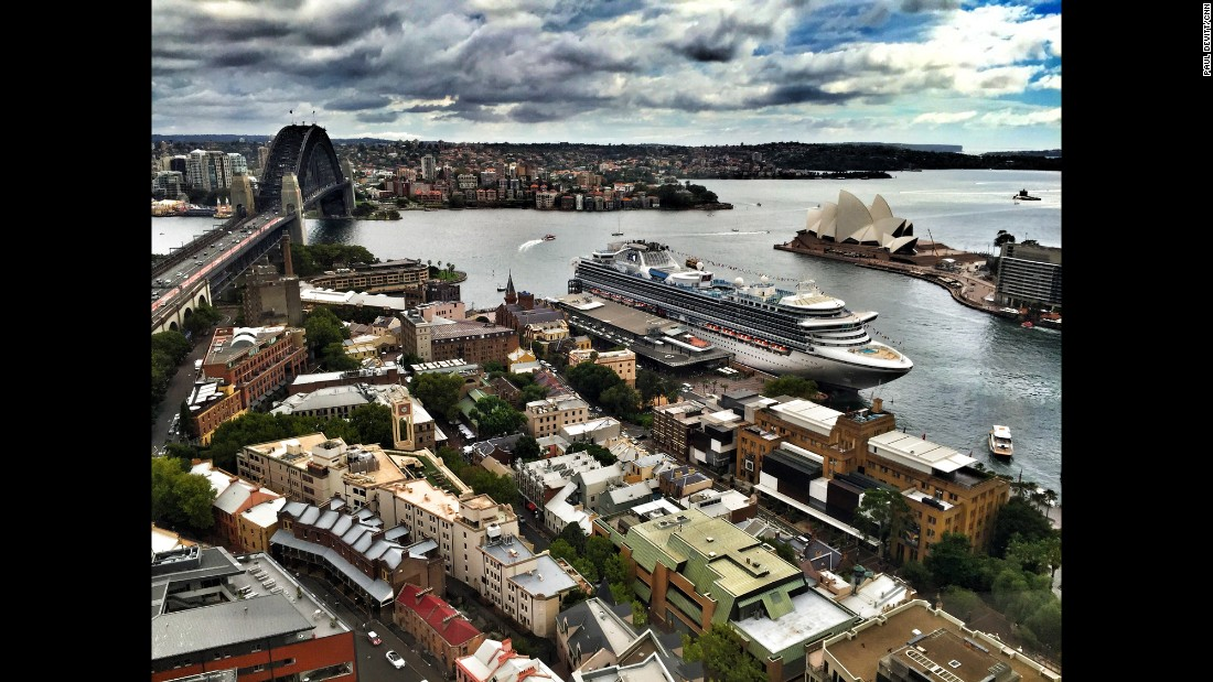 "AUSTRALIA: ""A high view of Sydney Harbour. The Harbour Bridge on the left and the Sydney Opera House on the right -- two of the most recognised landmarks in the world. Both draw millions of visitors a year and no time more so than New Years Eve, when the skyline explodes with the world famous fireworks."" - CNN's Paul Devitt <a href=""http://instagram.com/devocnn"" target=""_blank"">@devocnn</a>, January 23."