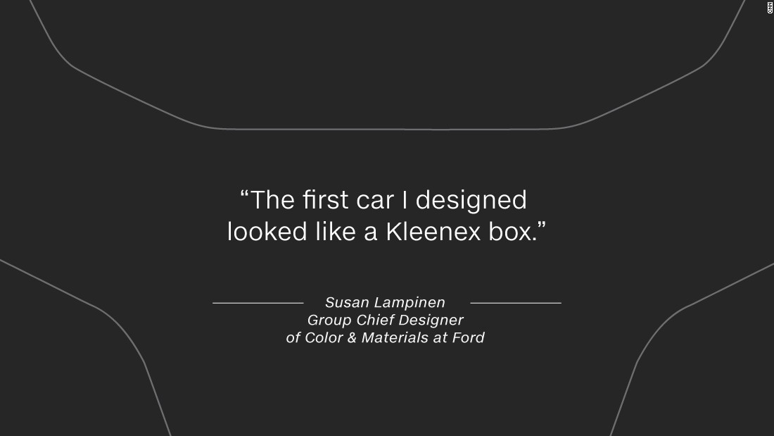 """She says it takes time to perfect the art of auto design: """"The first car I designed looked like a Kleenex box."""""""