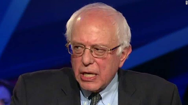 Sanders contrasts his past with Clinton's