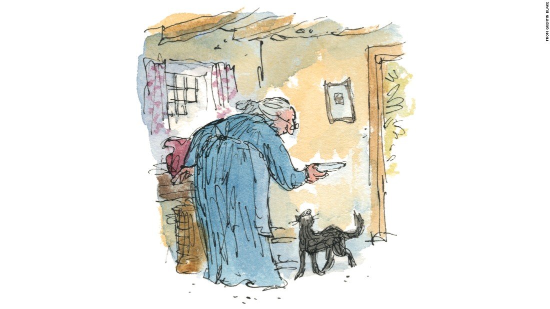"""Quentin Blake, known for his work with Roald Dahl, illustrated  """"Kitty in Boots."""""""