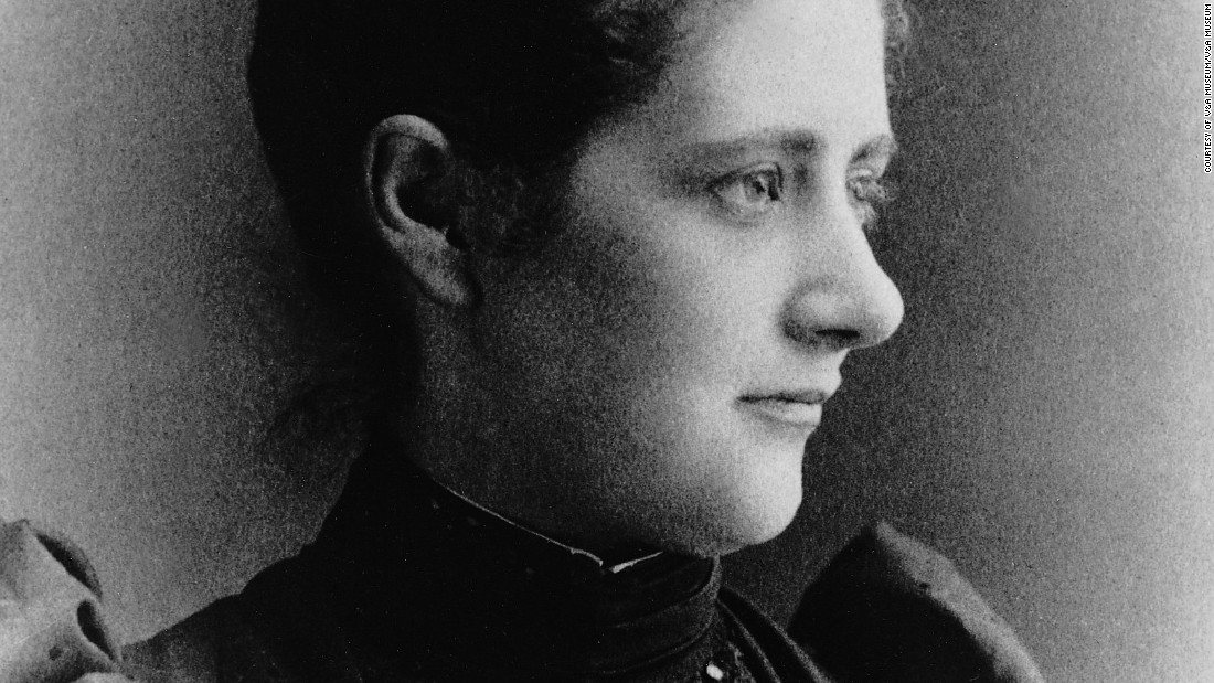 Children's author and environmentalist Beatrix Potter, as she appeared at age 26, in 1892.