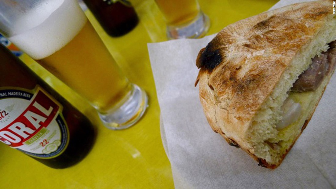 Next door to Funchal's market, the marble-fronted Snack Bar Coca Cola serves a legendary sandwich that squeezes scabbard fish marinated with onion and vinegar into a bolo do caco -- a typical Madeiran flat loaf.