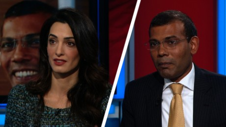 Christiane Amanpour speaks to  Mohamed Nasheed, Former Maldives President & Amal Clooney Nasheed's Lawyer about his legal fight against the Maldives