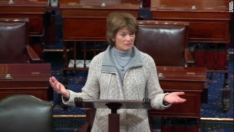 Senate floor Murkowski women snowstorm sot_00011926