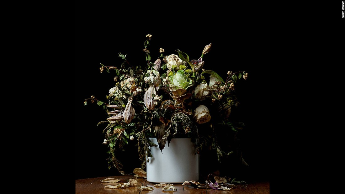 This image of flowers in a vase is expected to sell for a similar price to that of the potato.