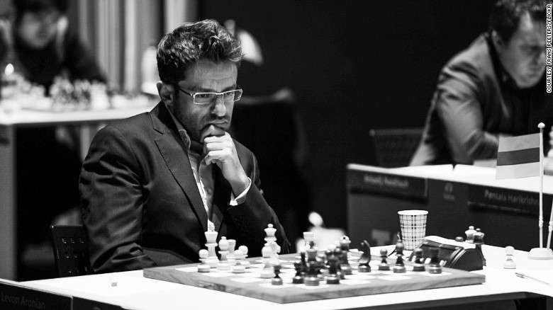 """""""Chess is like any kind of sport, but taken into a little cage where you have to understand how his brain works, how his blood flows"""" -- Levon Aronian."""