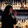 woman alcohol bar