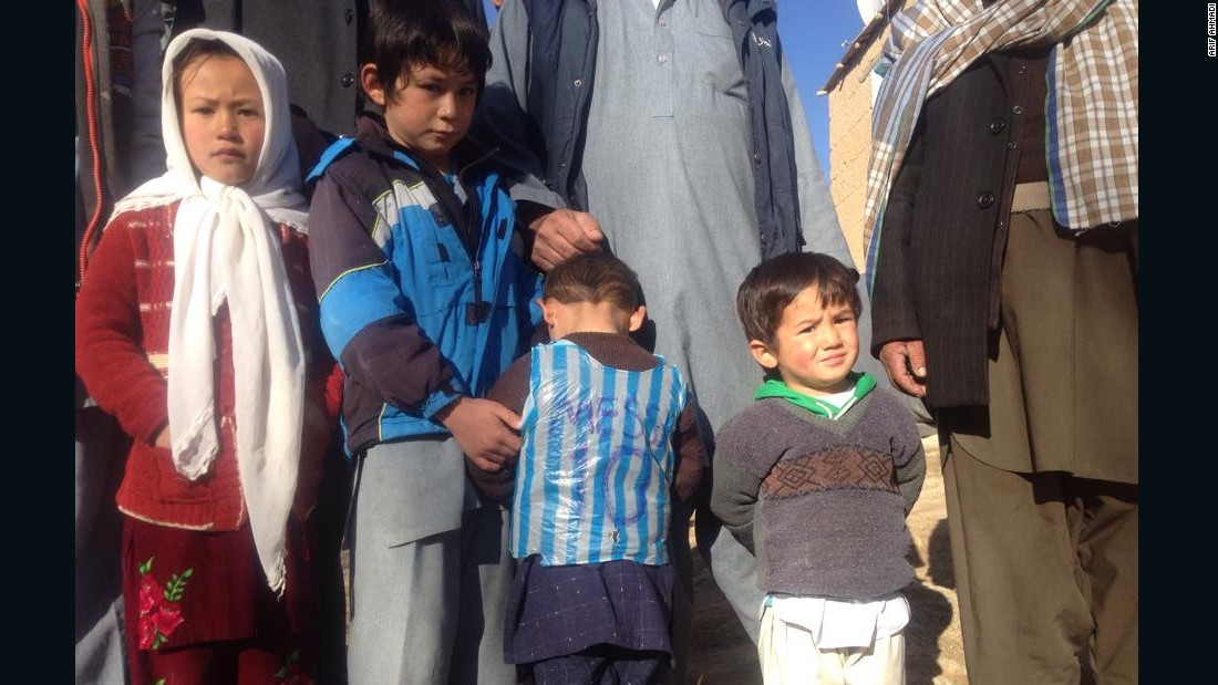 The Ahmadis lived in Jaghori, southwest of Kabul in Afghanistan. Murtaza wants to be a footballer when he grows up.