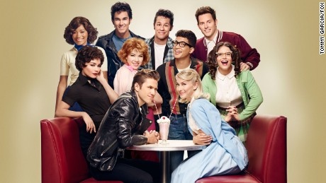 GREASE: LIVE: (L-R): Keke Palmer, Vanessa Hudgens, Carlos PenaVega, Carly Rae Jespen, Aaron Tveit, David Del Rio, Jordan Fisher, Julianne Hough, Andrew Call and Kether Donohue in GREASE: LIVE airing LIVE Sunday, Jan. 31, 2016 (7:00-10:00 PM ET live/PT tape-delayed) on FOX. Cr: Tommy Garcia/FOX