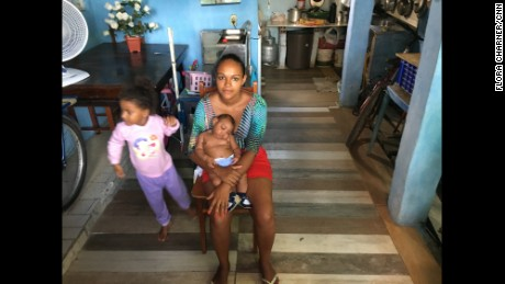 BRAZIL: When Rafaela Oliveira dos Santos, 20, gave birth to her second child she never imagined the challenges to come. Baby Luiz Felipe was born with microcephaly, a rare neurological disorder with long-term physical and mental repercussions that has been linked to the mosquito-borne Zika virus that is spreading throughout the Americas. Photo by CNN's Flora Charner @floracharner.