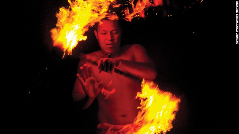 Siva afi is a fire knife dance thaat originated in Samoa.