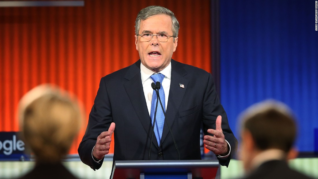 "Bush, who has been increasingly combative with Trump during the debates, joked that he wished Trump was there. ""I kind of miss Donald Trump. He was a little teddy bear to me,"" Bush said. ""Everybody else was in the witness protection program when I went after him."""
