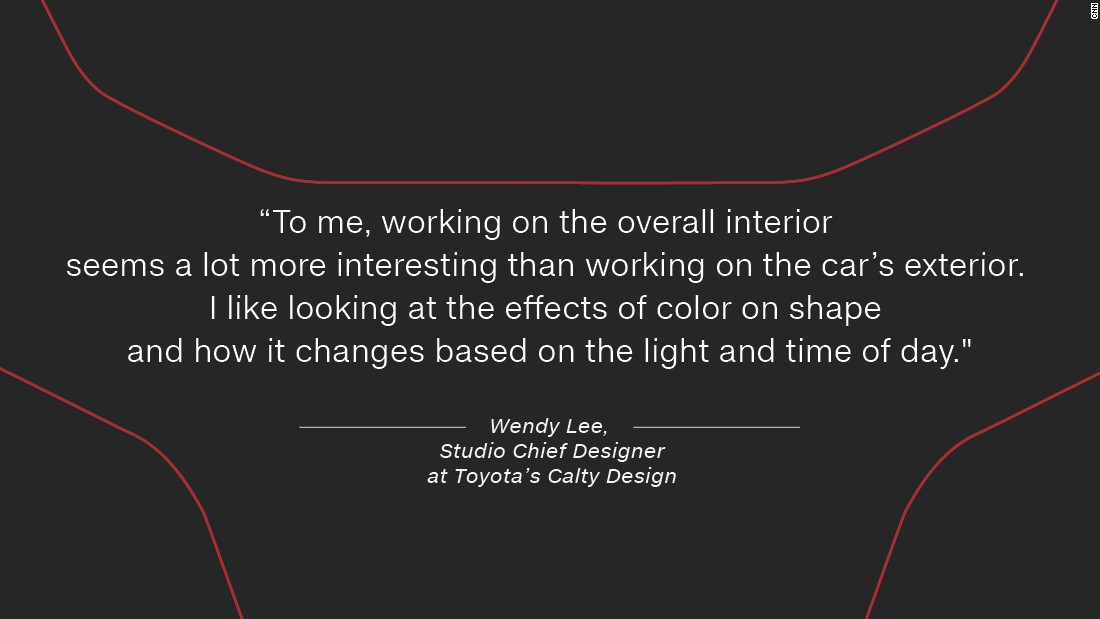 """Previously, an interior design at Barth and Dreyfus, specializing in home accessories, Lee now uses her creative flair on cars. """"To me, working on the overall interior seems a lot more interesting than working on the car's exterior. I'm able to put more emphasis on the tactile aspects and nuances of the vehicle. I like looking at the effects of color on shape and how it changes based on the light and time of day."""