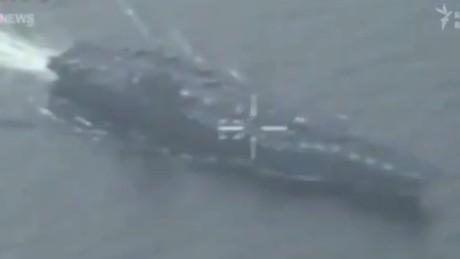 Iran flies drone over U.S. carrier