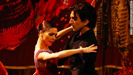 Dancers perform the Tango during the Opening Ceremony of the 125th IOC Session at Teatro Colon on September 6, 2013 in Buenos Aires, Argentina. (Photo by Scott Halleran/Getty Images)