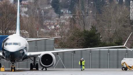Boeing 737 MAX maiden flight roars off the runway