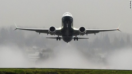 Skies were cloudy, but the mood was bright after the 737 MAX's successful first flight.