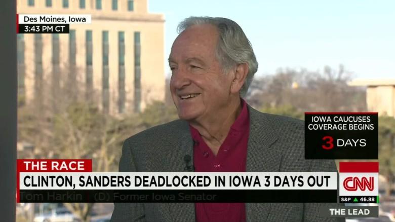 Harkin on Clinton, Sanders' Iowa ground game