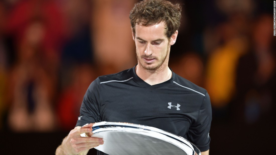 A familiar sight for Murray -- the world No. 2 has now lost all five finals he has played in Melbourne.