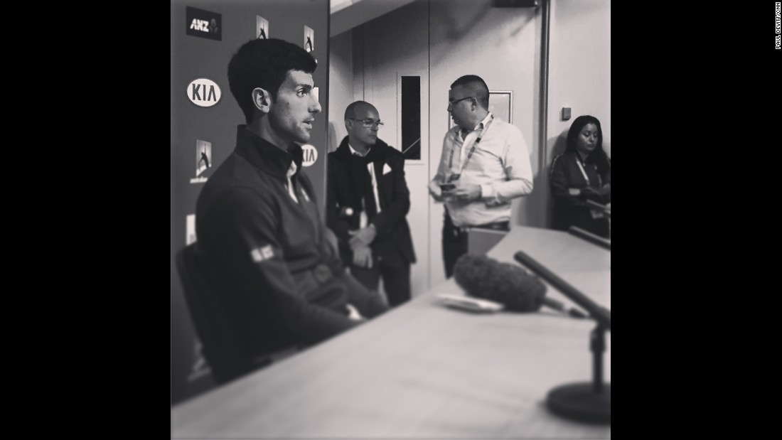 "AUSTRALIA: ""It was early 2010 when we first met Novak Djokovic for CNN Open Court. Tonight he wins the Australian Open for a 6th time and still is a pure classy gentleman. Two hours after winning, he still sits and talks to journalist after journalist, each time answering every question with enthusiasm and honesty. Congrats Novak...hope there are more to come."" - CNN's Paul Devitt <a href=""http://instagram.com/devocnn"" target=""_blank"">@devocnn</a>, January 31."