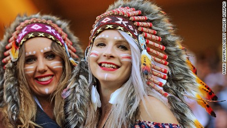 WELLINGTON, NEW ZEALAND - JANUARY 31: Fans pose during the 2016 Wellington Sevens match between Australia and Argentina at Westpac Stadium on January 31, 2016 in Wellington, New Zealand.  (Photo by Mark Tantrum/Getty Images for HSBC)