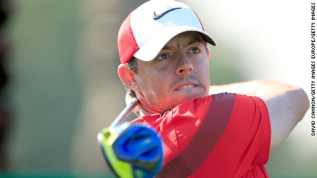 DUBAI, UNITED ARAB EMIRATES - FEBRUARY 01:  Rory McIlroy of Northern Ireland in action during his practice round as a preview for the 2016 Omega Dubai Desert Classic on the Majlis Course at the Emirates Golf Club on February 1, 2016 in Dubai, United Arab Emirates.  (Photo by David Cannon/Getty Images)