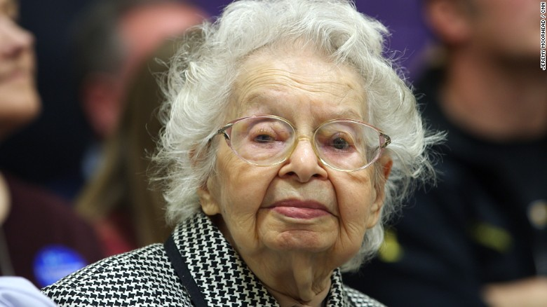 Caucusing at 102 years old