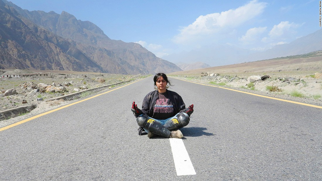 """When I was on the road, it was like a coming together of my mind, body and soul,"" she says of being out of Pakistan's congested cities. ""I felt free."""