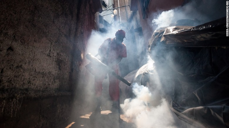 "A health worker fumigates an area in Caracas, Venezuela, to combat the Aedes aegypti mosquito on Tuesday, February 2. The mosquito carries the <a href=""http://www.cnn.com/specials/health/zika"" target=""_blank"">Zika virus,</a> which has suspected links to birth defects in newborn children. The World Health Organization expects the Zika outbreak to spread to <a href=""http://www.cnn.com/2016/01/25/health/who-zika-virus-americas/index.html"" target=""_blank"">almost every country in the Americas.</a>"