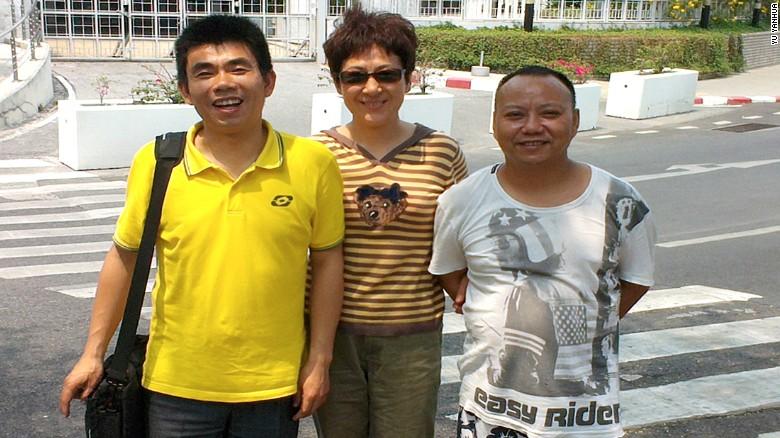 "A political cartoonist and leader in the Chinese dissident community in Thailand, Jiang Yefei, right, was arrested alongside Dong Guangping in Bangkok and sent to China. Amnesty International says he fled China after being detained and tortured because of his criticism of the government's response to the 2008 Sichuan earthquake. He appeared imprisoned on Chinese state television in November, asking for ""lenient treatment."""