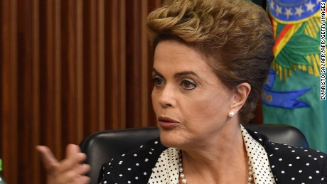 Brazilian President Dilma Rousseff speaks as she attends a ministerial meeting to discuss new measures to combat the proliferation of Zika virus in Brazil, at the Planalto Palace in Brasilia, on February 1,  2016. The World Health Organization said today in Geneva that the spread of Zika and its possible connection with cases of microcephaly has become an international public health emergency. AFP PHOTO/EVARISTO SAEVARISTO SA/AFP/Getty Images