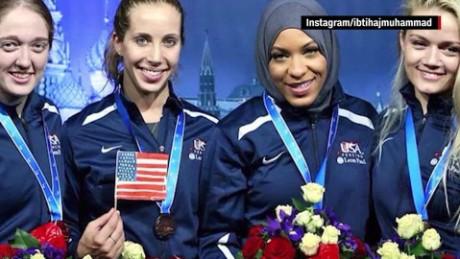 First U.S. Olympic Muslim athlete to wear a hijab