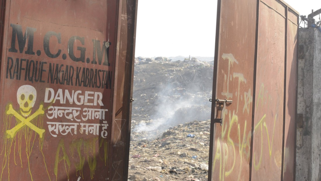 The Deonar dump is one of the world's largest, and in January suffered a huge blaze which blacked out the sky.
